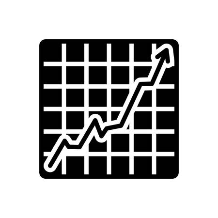 Icon for increasing stocks graphic,graph