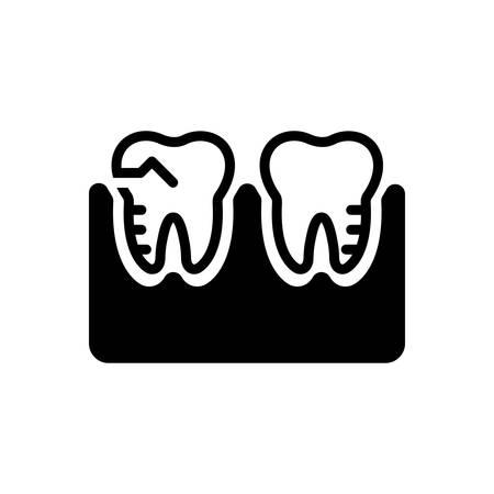 Icon for molar silhouette,treatment