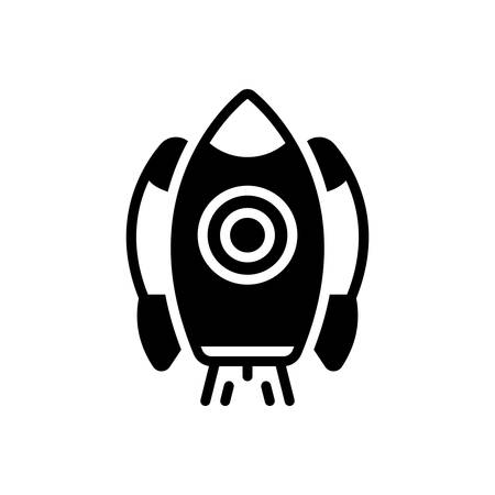 Icon for rocket ship,launch