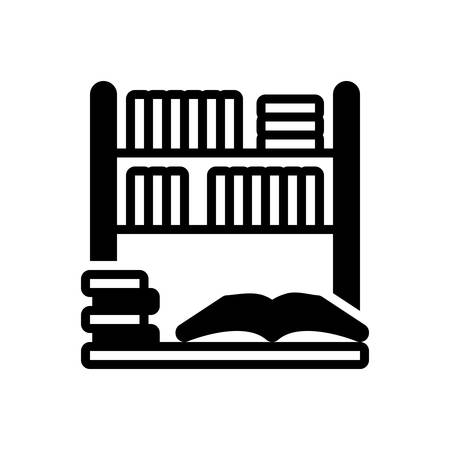 Icon for library,bookshelf