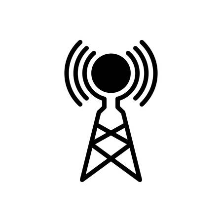 Icon for wireless antenna,antenna,broadcast