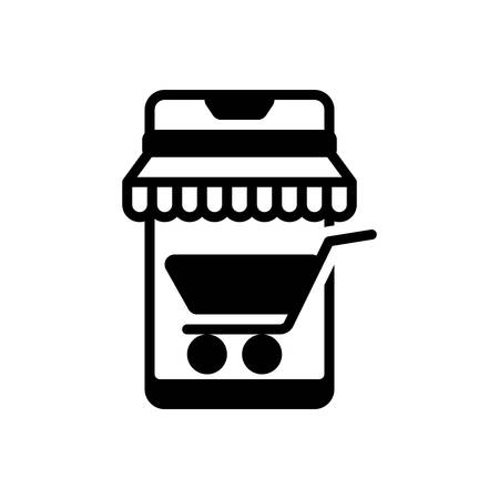 Icon for mobile shopping,mobile