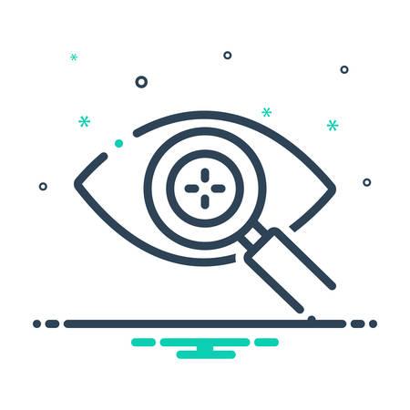Eye detect icon Çizim