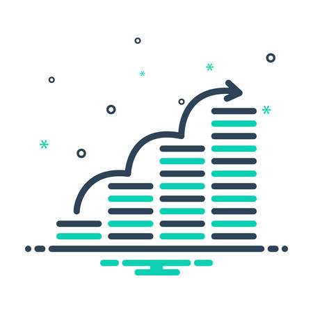 Icon for mutual ,fund Stock Illustratie