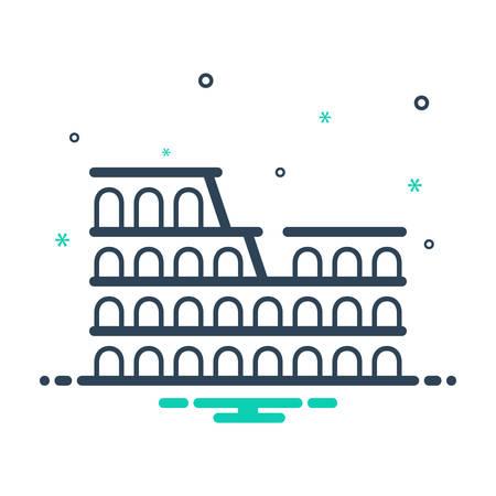 Colosseum of rome icon