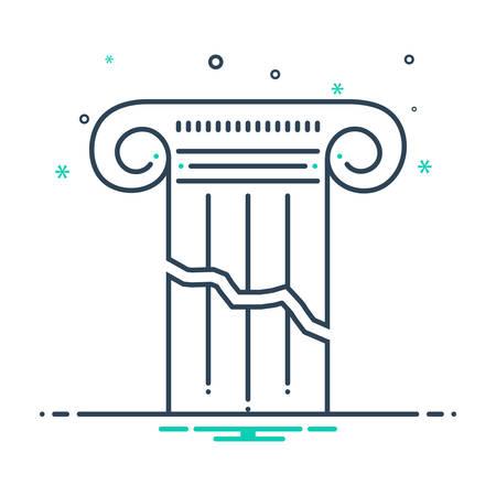 Broken pillar icon