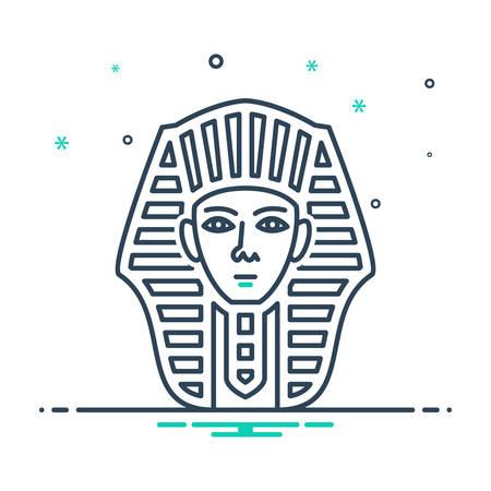 Egyptian face icon