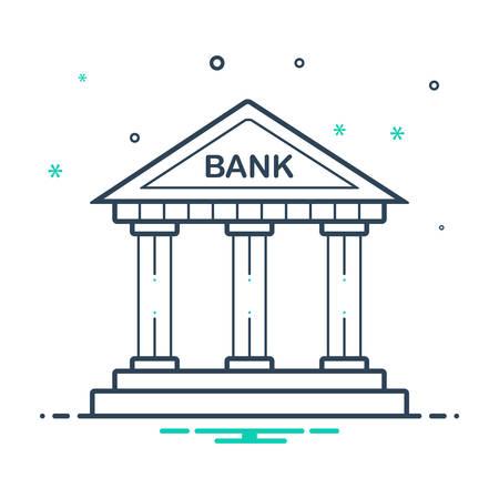 Bank ivcon Ilustração