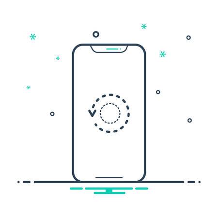 Restart phone icon Illusztráció