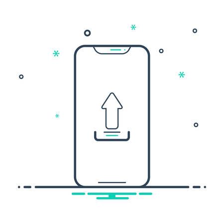 Upload app icon 向量圖像