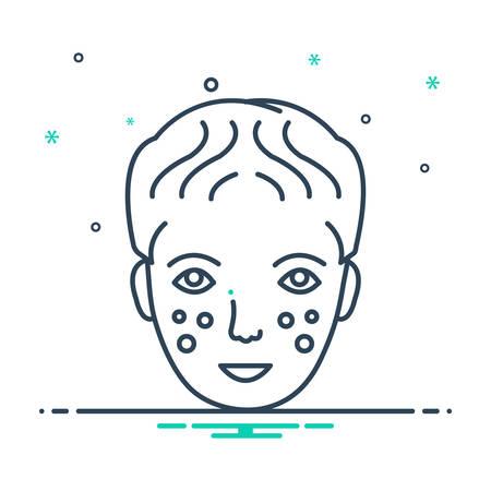 Laser dermatology icon 向量圖像