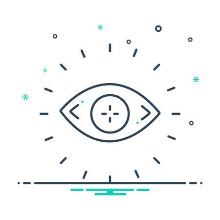 Eyesight icon Illustration