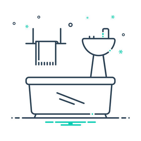 Bathroom appliances icon