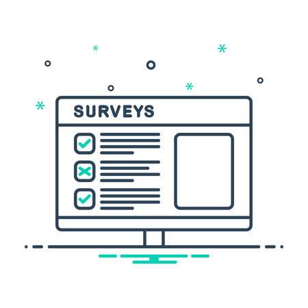 Icon for surveys , feedback