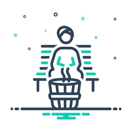 Icon for sauna,bath Vector Illustratie