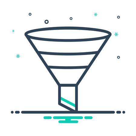 Icon for filtering,funnel Vettoriali