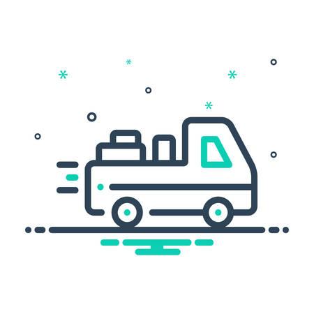 Icon for deliverable,deliver Ilustração