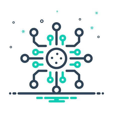 Icon for digitalization,technology Ilustração