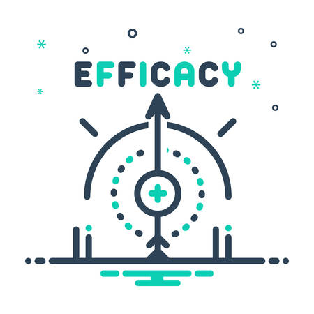 Icon for efficacy,impact Ilustração