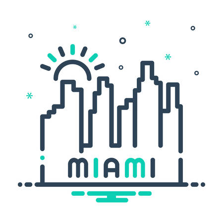 Icon for miami,beach