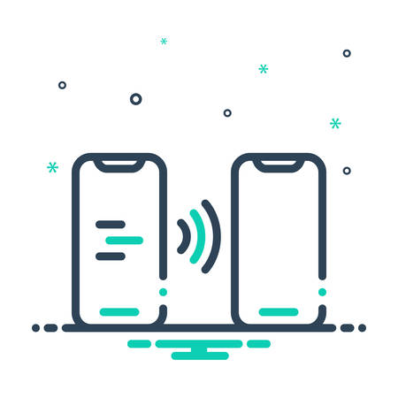 Icon for contactless,smartphone