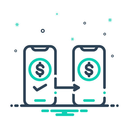 Icon for payed,money transfer