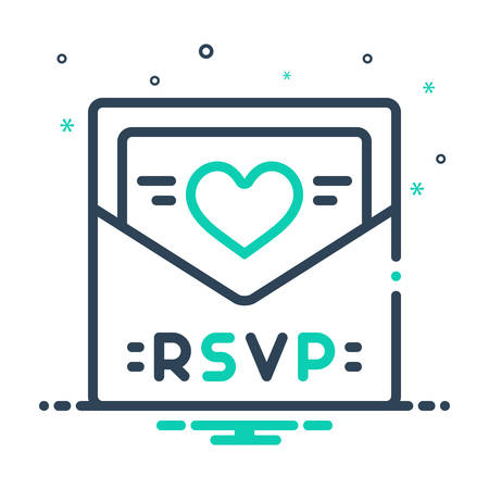 Icon for rsvp,card