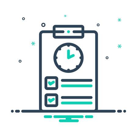 Icon for timesheet,countdown
