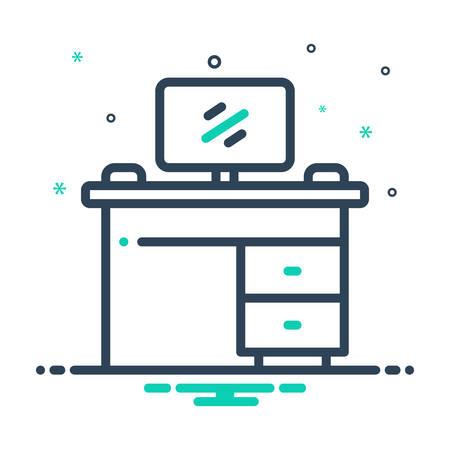 Icon for workbench,monitor Ilustração