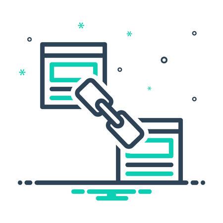 Icon for link,building Ilustração