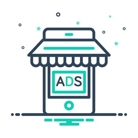 Icon for mobile,marketing Ilustração