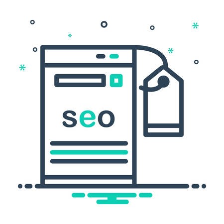 Icon for seo,tagging Ilustração