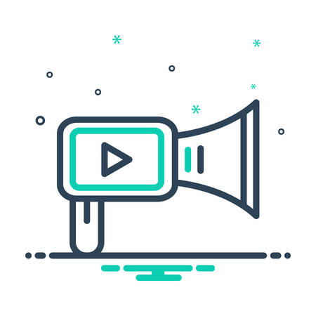 Icon for video,marketing