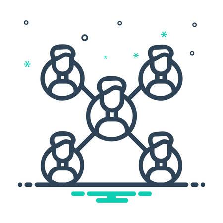 Icon for affiliate,marketing Ilustração