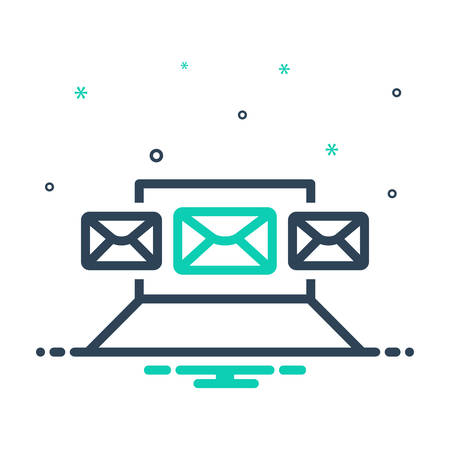 Icon for email,marketing Ilustração