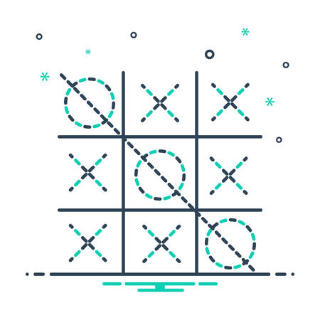 Icon for tic tac toe, competition