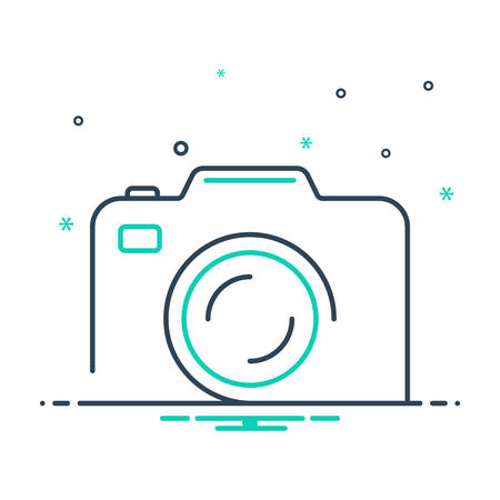 Icon for camera,photography Illusztráció
