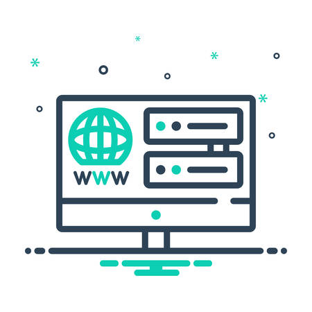 Icon for web,hosting