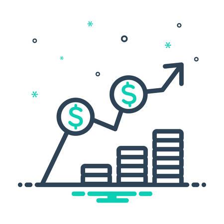 Icon for Cost,expense Ilustración de vector