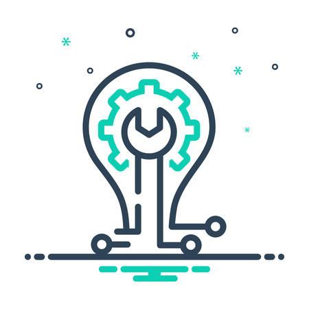 Icon for Skill,ability Иллюстрация