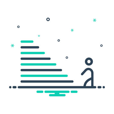Icon for Step,climb 일러스트