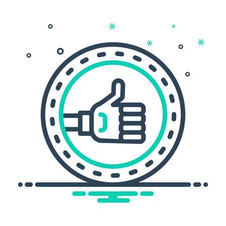 Icon for Positive,ok 向量圖像