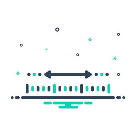 Icon for Yardage,measurement 向量圖像