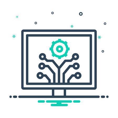 Icon for development,innovation 矢量图像