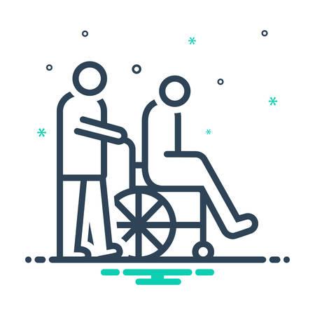 Icon for caregivers,caretaker Vettoriali