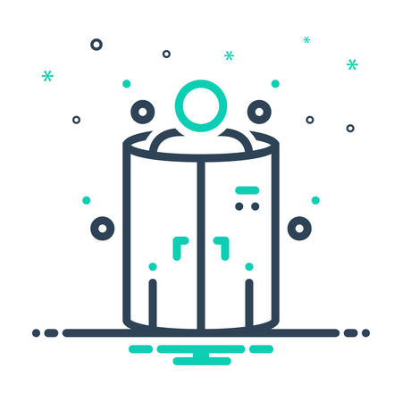 Icon for cryotherapy,chamber