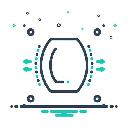 Icon for dispersion,spread