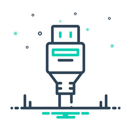 Icon for displayport,connector