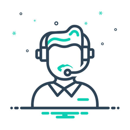 Icon for customer service,consultant