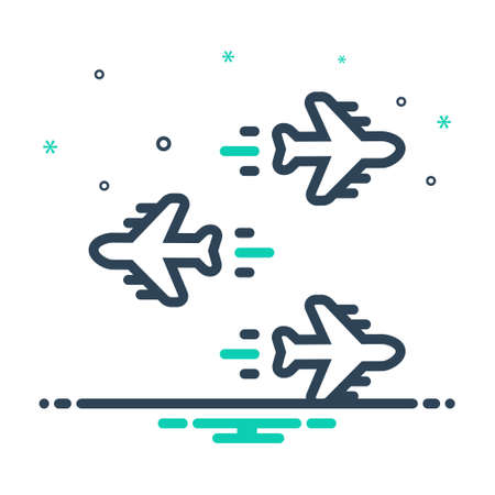 Icon for individualization,airplane